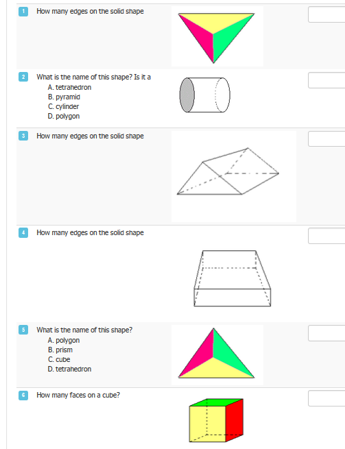 Example task on Prisms and Pyramids
